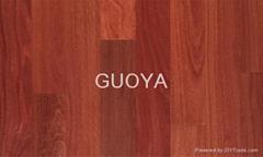 GUOYA click engineered hardwood flooring-Santos mahogany