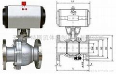 天津气动球阀Q641F-16C