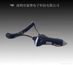 Black and white Car Charger for BlackBerry