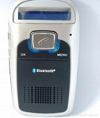 Solar Charging Car Bluetooth Kit with FM modulator