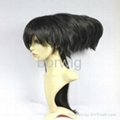 Fukuyama Jun Black Cosplay Wig Synthetic