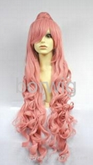 Beauty RUKA Pink Cosplay Wig Synthetic Hair Wig Customized Wigs