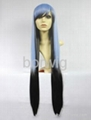 Sanctuary Blue Black Cosplay Wig