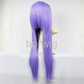 Long Straight Light Purple Cosplay Wig Synthetic Hair Wig Customized Wigs 2