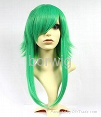 Vocaloid GUMI Green Cosplay Wig Synthetic Hair Wig Customized Wigs