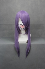 Purple Long Straight Cosplay Wig Synthetic Hair Wig Customized Wigs