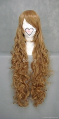 Brown Weave Cosplay Wig Synthetic Hair Wig Customized Wigs