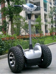 Electric mobility scooter with all-terrain tire