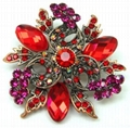 2011 fashion spring flower rhinestone brooch