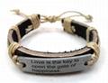 2011 fashion leather bracelet 2