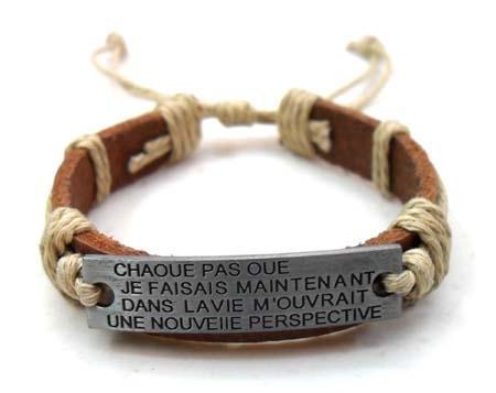 2011 fashion leather bracelet 3