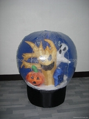 inflatable snowglobe