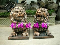 Glass steel animal sculpture