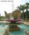 玻璃钢假山喷泉定制