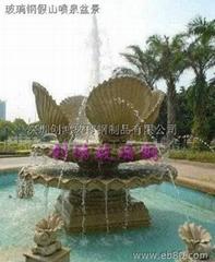 Custom FRP rockery fountain