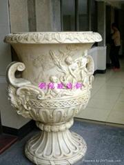 European-style flower pots fiberglass