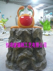 Special-shaped glass sculpture