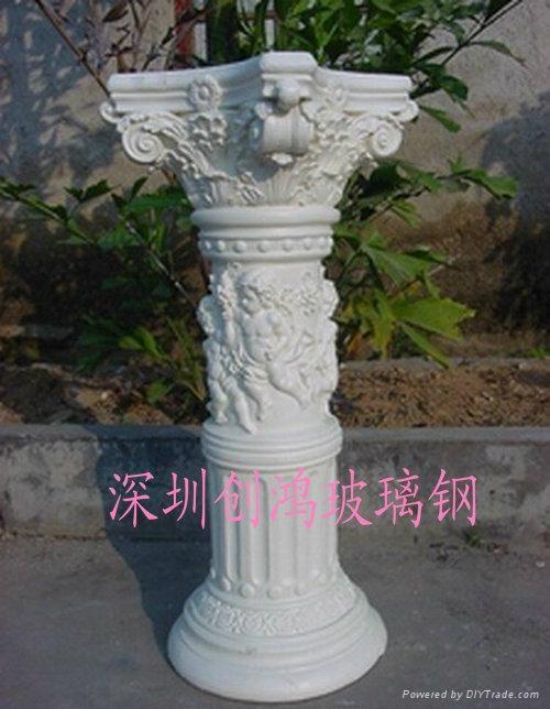 廠家生產加工玻璃鋼羅馬柱 2