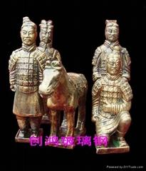 玻璃鋼仿銅人物雕塑
