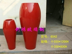 Art glass steel pots
