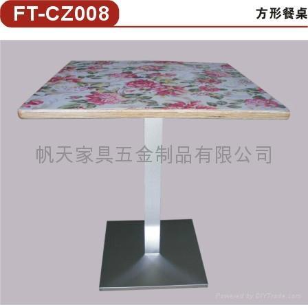供應2011年新款餐桌快餐廳傢具五金配件 2