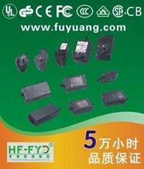 24V1A开关电源适配器24W(IC方案 带保护)