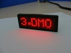 LED Mini badges for B729 steel red
