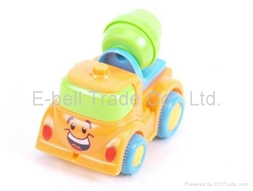 Four solid -color light and music cartoon Friction plastic toy car 2