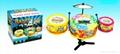 Flash jazz plastic toy drum