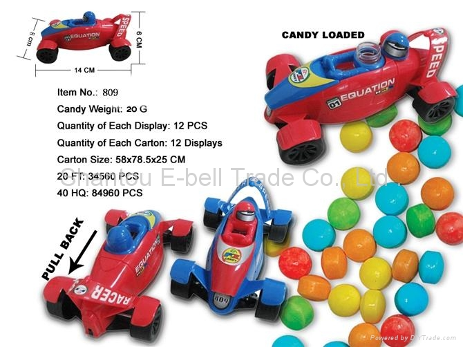 Back in F1 concept candy toy car