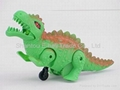Pressure action plastic toy dinosaurs
