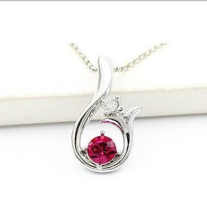 高檔水晶禮品批發飾品廠家施華洛世奇水晶項鏈 1
