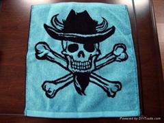 全棉色织提花运动巾