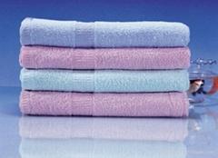 全棉素色缎档毛巾