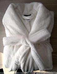 全棉宾馆酒店割绒浴袍