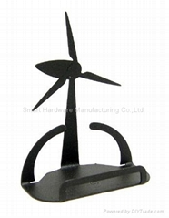 Wind tower business card holder