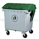 Outdoor Plastic Garbage Bin 1200L With
