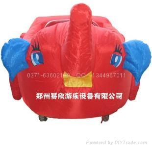 儿童雙人電瓶車卡通充氣外罩 2
