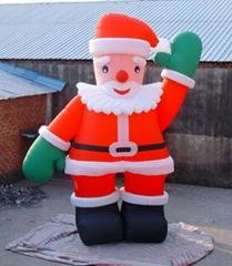 充氣聖誕老人卡通氣模