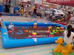 广场儿童12平方充气沙滩池价格