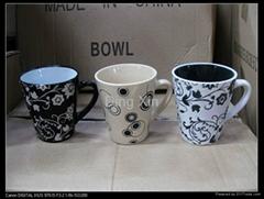 V-type hand-drawing mug