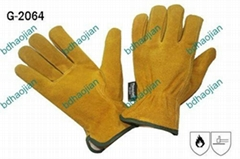 cow hides splits leather working gloves