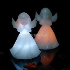 LED天使蠟藝品