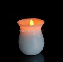 荷叶花瓶蜡烛