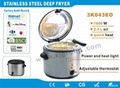 Stainless steel deep fryer XJ-3K043E0
