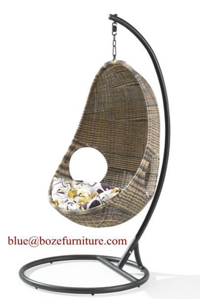 Outdoor Rattan Furniture Hammock Wicker Swing Chair (BZ W014) 1 ...
