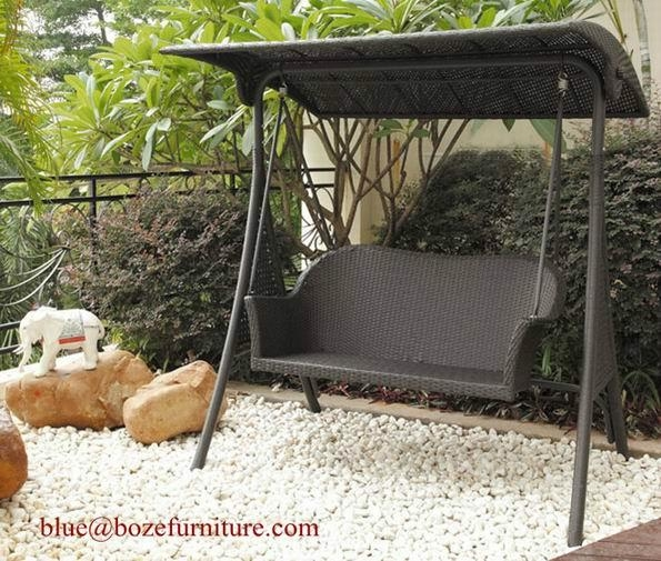 Rattan Swing Chair Outdoor Furniture Wicker Double Seats