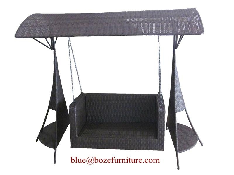 Rattan Swing Chair Outdoor Furniture Wicker Double Seats Hammock ...
