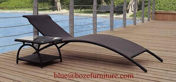 wicker lounge bed outdoor furniture rattan chaise lounge. Black Bedroom Furniture Sets. Home Design Ideas