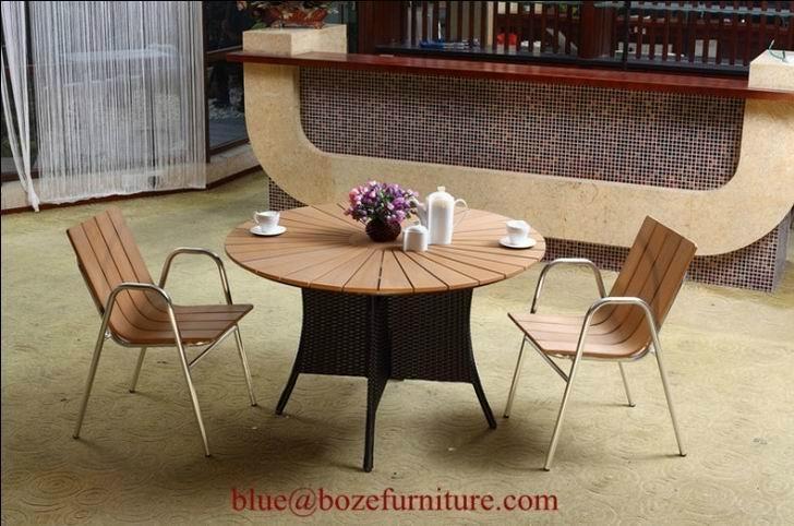 Garden Furniture Poly Wood Dining Set Bz P030 Boze China Manufacturer Outdoor Furniture